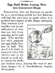 Beeswax eggs for iron preparation Popular mechanics May 1934
