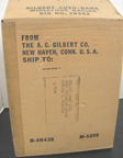 A.C. Gilbert Company Slot Car Set Shipping box