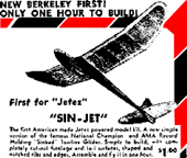 Berkeley Sin-Jet made for jetex 1952-1954