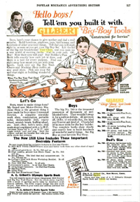 A.C. Gilbert Company Ad for the Big Boy Tool Set