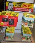A.C. Gilbert Company James Bond Figurines display