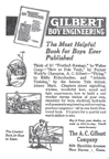A.C. Gilbert Company Ad for Boy Engineering