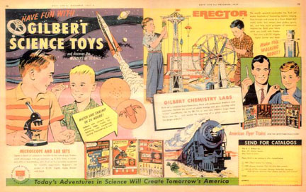 Gilbert Erector Set ad from Boy's Life