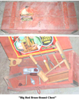 A.C. Gilbert Company Big Boy Tools chest Brass Bound BoxA> &nbsp;&nbsp; 