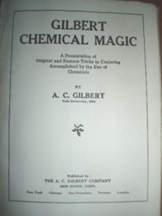 A.C. Gilbert Company  Gilbert Chemistry Magic Booklet