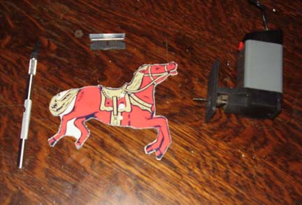 Cut Erector Set Horses out