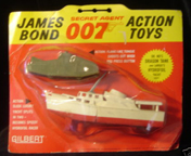 A.C. Gilbert Company James Bond Accessories - Dr. No fire tank and the Disco Volante