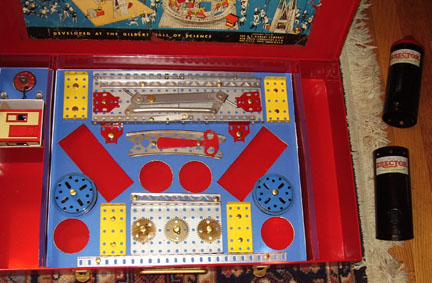 The bottom layer or Box of the 10.5 Erector Set