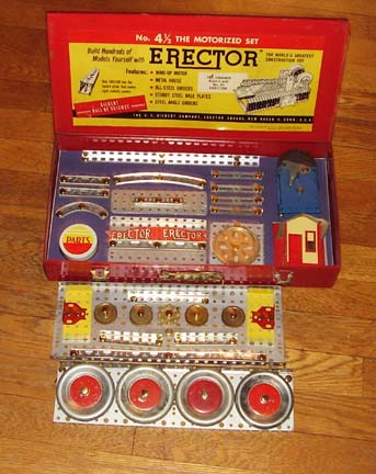 Erector 4 1/2 set Complete View