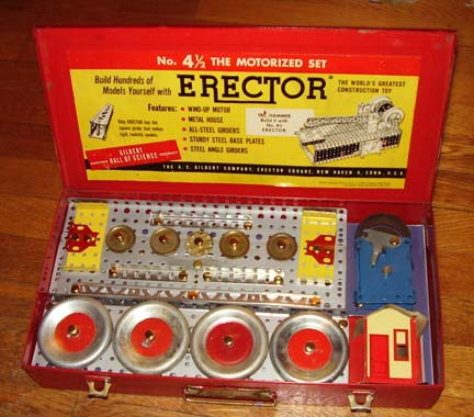 Erector 4 1/2 set Xmas Day