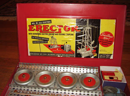 Erector 6 1/2 set Xmas Day