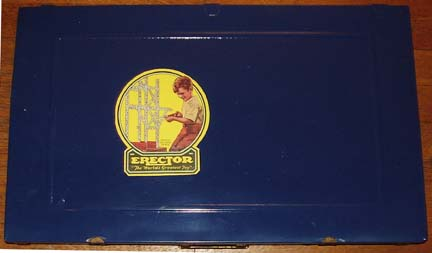 Erector 9 1/2 set Blue Box