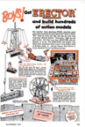 Erector Set Ad from the Nov 1953 Popular mechanics article on toy ideas