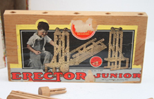 A.C. Gilbert Company Erector Junior Set made of wood