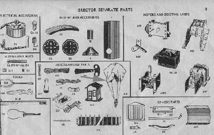 Advanced Erector Set Parts