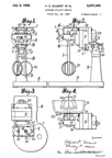 A.C. Gilbert Company Kitchen Stand Mixer Patent No. 2,007,300