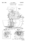 A.C. Gilbert Company Kitchen Stand Mixer Patent No. 2,247,708