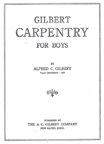 A.C. Gilbert Company  Carpentry Manual Cover