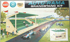 A.C. Gilbert Company Slot Car Set  aftermarket grandstand building kit
