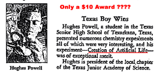 A.C. Gilbert Company 1936 3rd prize award for chemistry to Hughes Powell