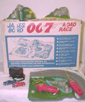 A.C. Gilbert Company James Bond Slot Car Set