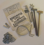 A.C. Gilbert Company Metal Casting Set -- illustration of components