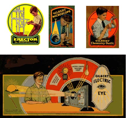 Erector Set labels Available