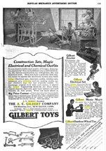 1916 Ad for A.C. Gilbert Company Elementary Electricity Set