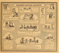 A.C. Gilbert Company Catalogue Entry for the Miniature Machinery Set 1920s
