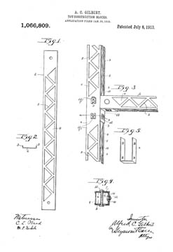 Original Erector patent no 1,066,809