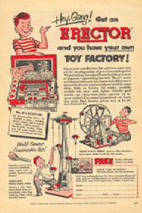 Erector Set ad featuring Parachute Jump