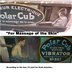 Gilbert Polar Cub Vibrator box closeup