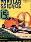 Cover of the December 1932 issue of Popular Science