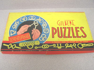A.C. Gilbert Company Party Puzzles Set Box