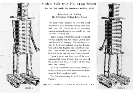 Instructions for the Erector Set Robot
