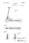 A.C. Gilbert Company New Wheel Toy Scooter Patent No. 1472164