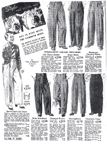 Trousers page from the 1930 Sears Catalogue