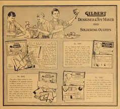 A.C. Gilbert Company Soldering set in the 1918 Catalogue