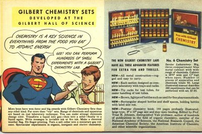 Superman endorses the Chemistry Set