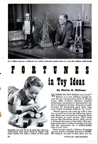 A.C. Gilbert Featured in Nov 1953 Popular Mechanics Article on toy ideas