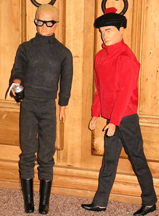 A.C. Gilbert Company Ilya Kuryakin and Napoleon Solo Action Figure