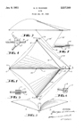 George Wanner Flexible wing kite patent No 2,537,560