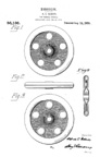 A.C. Gilbert Company New Wheel Toy Patent D-55136 for  the all purpose wheel