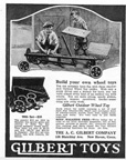 A.C. Gilbert Company New Wheel Toy ad in Boys Life June 1920
