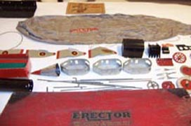 Erector Zeppelin Set parts