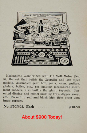 Erector Zeppelin Set advertisement
