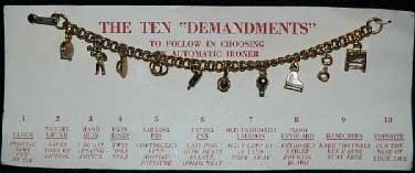 The 10 demandments Charm Bracelet