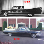 Flower Car based on 1959 and 1960 Cadillac