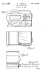 Belmont 519 Table Radio Design Patent D-112,959