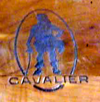Cavalier Cedar Chest woodburned marker from the 1950s